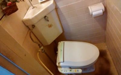 便器・タンク・便座・給水管・止水栓・排水管 東京都多摩