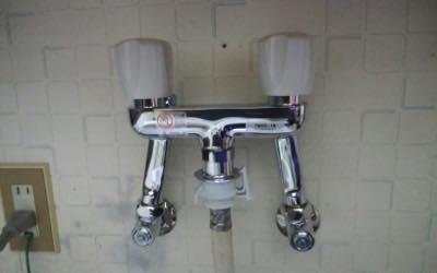 洗濯機用蛇口 東京都多摩:施工後写真