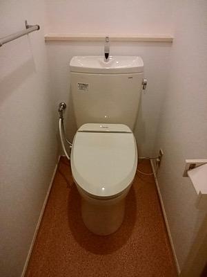 便器・タンク・便座・床・壁・給水管・止水栓 東京都多摩