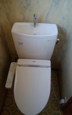 便器・タンク・便座・給水管・止水栓 東京都多摩:施工後写真